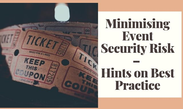 Minimising Event Security Risk